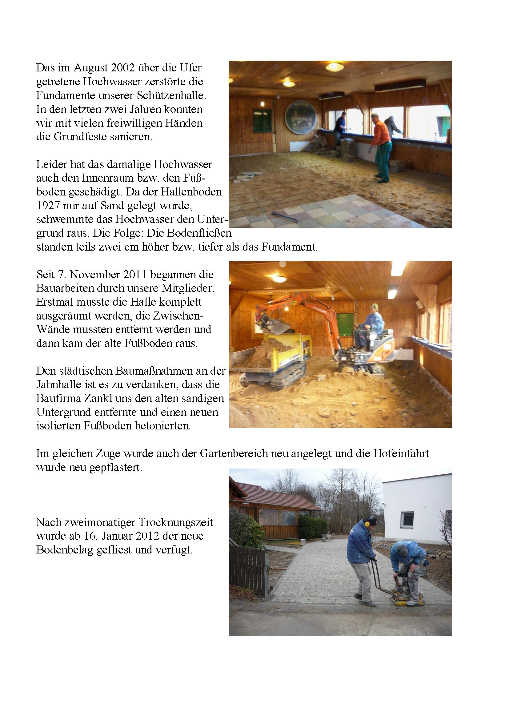 Bauphase Schützenhalle